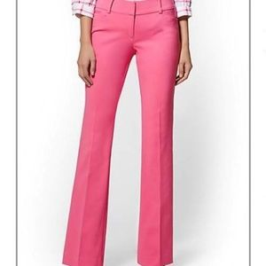 TALL - NY&CO Mid-rise Bootcut Pink Pants